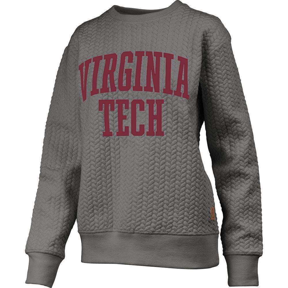 Virginia Tech Banner Elk Cable Knit Crew Sweatshirt