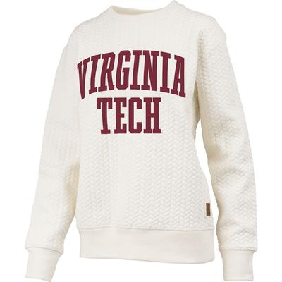 Virginia Tech Banner Elk Cable Knit Crew Sweatshirt