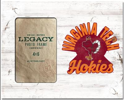 Virginia Tech Legacy Retro Picture Frame