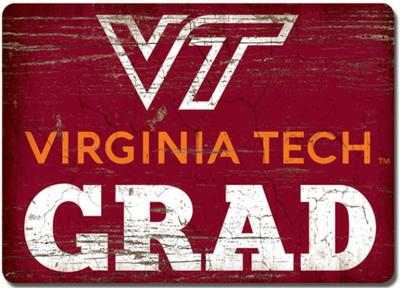 Virginia Tech Legacy Grad Wood Magnet