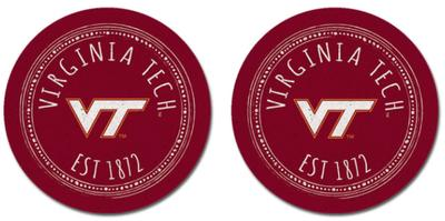 Virginia Tech Legacy Southern Pastime Car Coasters