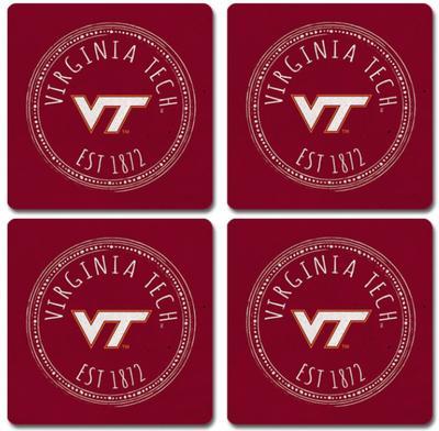 Virginia Tech Legacy Southern Pastime Coaster Set