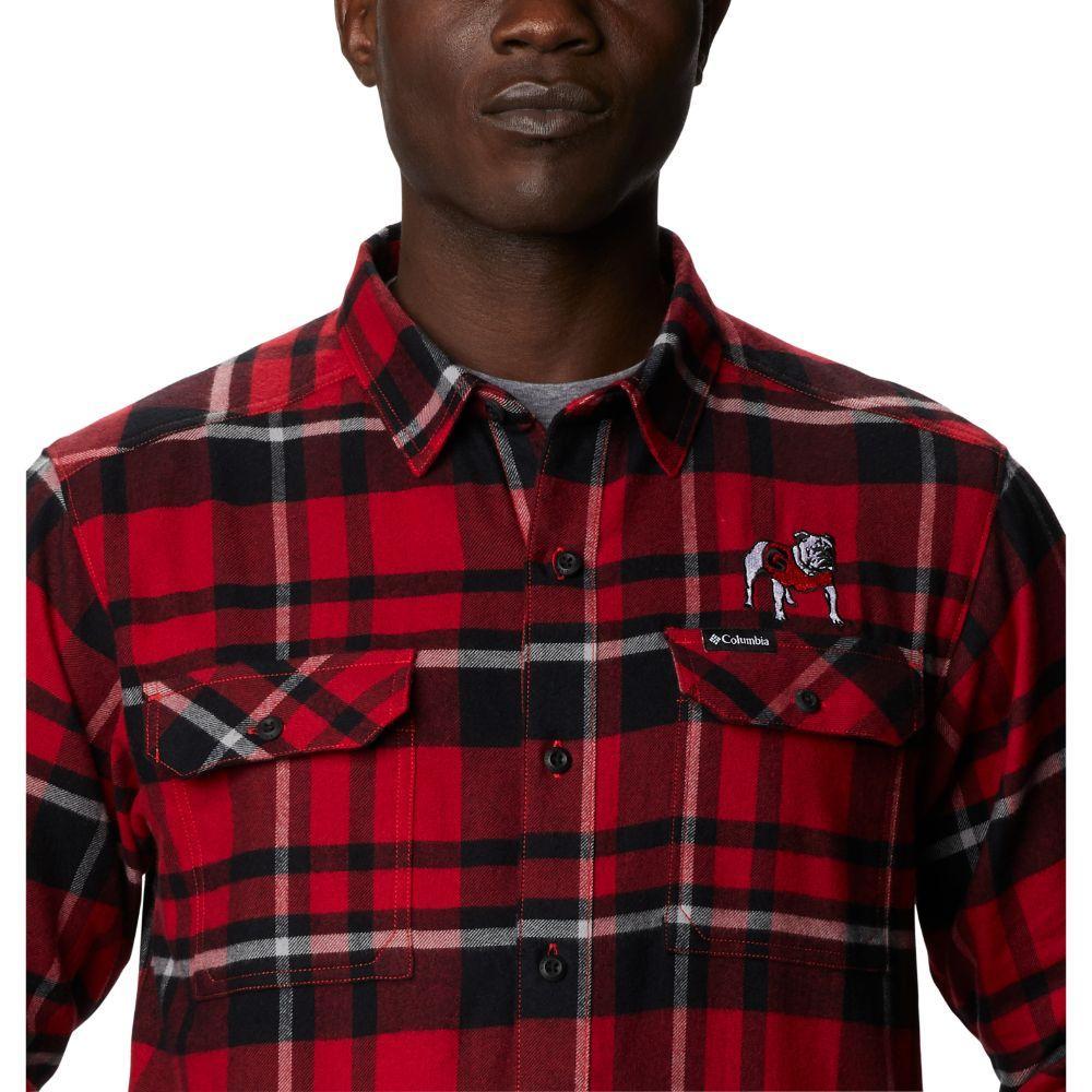 Georgia Columbia Men's Flare Gun Flannel Plaid Long Sleeve Shirt