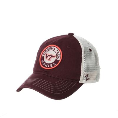 Virginia Tech Circle Embroidered Mesh Hat