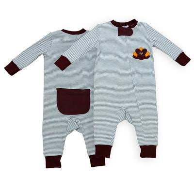 Gobbler Infant Striped Zip Pajama
