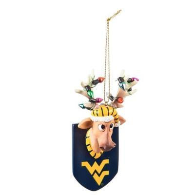 West Virginia Reindeer Ornament