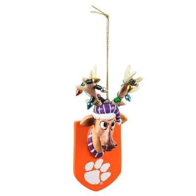 Clemson Reindeer Ornament
