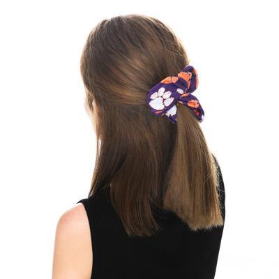 Clemson Zoozatz Stack Logo Hair Scrunchie