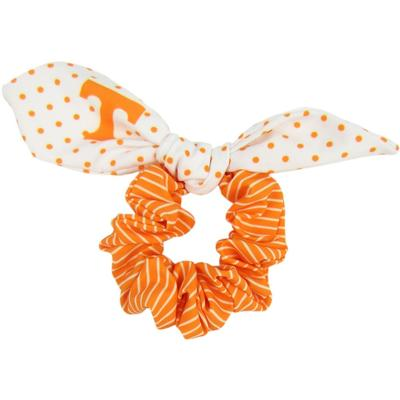 Tennessee Zoozatz Polka Dot Scrunchie with Bow