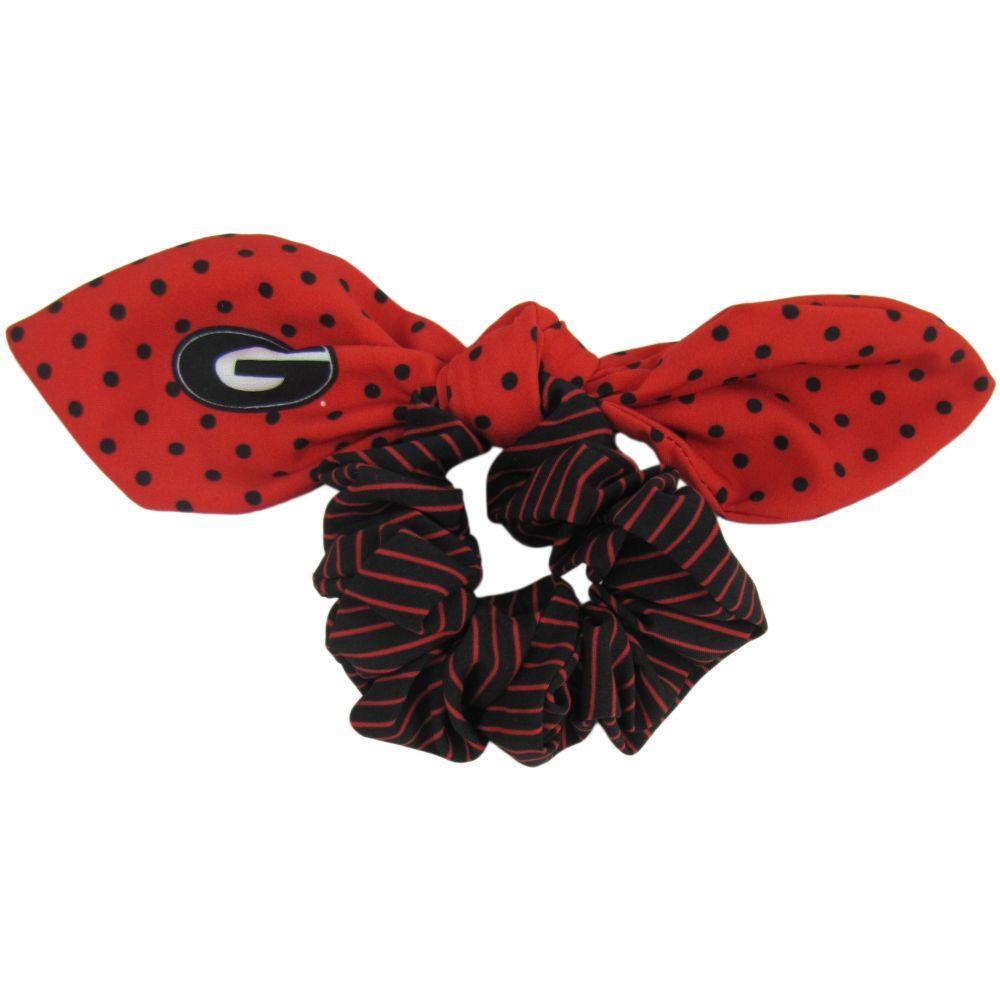 Georgia Zoozatz Polka Dot Scrunchie With Bow