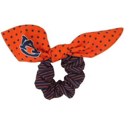 Auburn Zoozatz Polka Dot Scrunchie with Bow