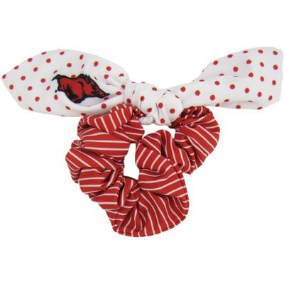 Arkansas Zoozatz Polka Dot Scrunchie with Bow