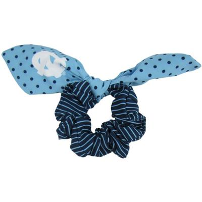 UNC Zoozatz Polka Dot Scrunchie with Bow