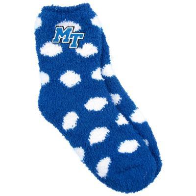 MTSU Zoozatz Fuzzy Dot Socks