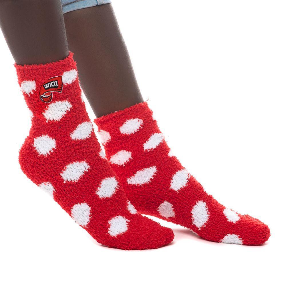 Western Kentucky Zoozatz Fuzzy Dot Socks