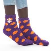 Clemson Zoozatz Fuzzy Dot Socks