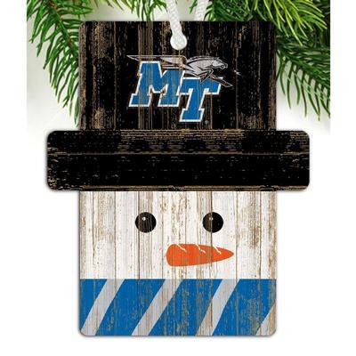 MTSU Snowman Ornament