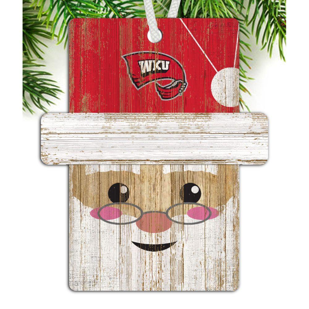 Western Kentucky Santa Ornament