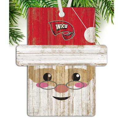 Western Kentucky Santa Ornament
