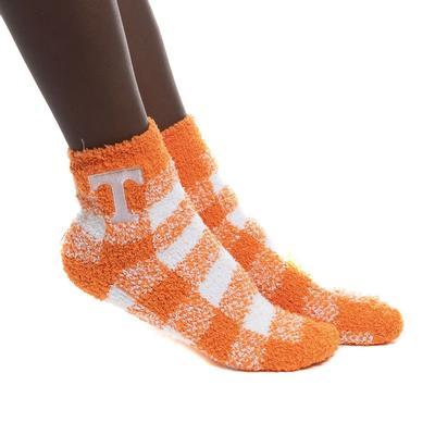 Tennessee Zoozatz Fuzzy Buffalo Check Socks