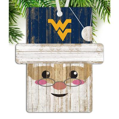West Virginia Santa Ornament