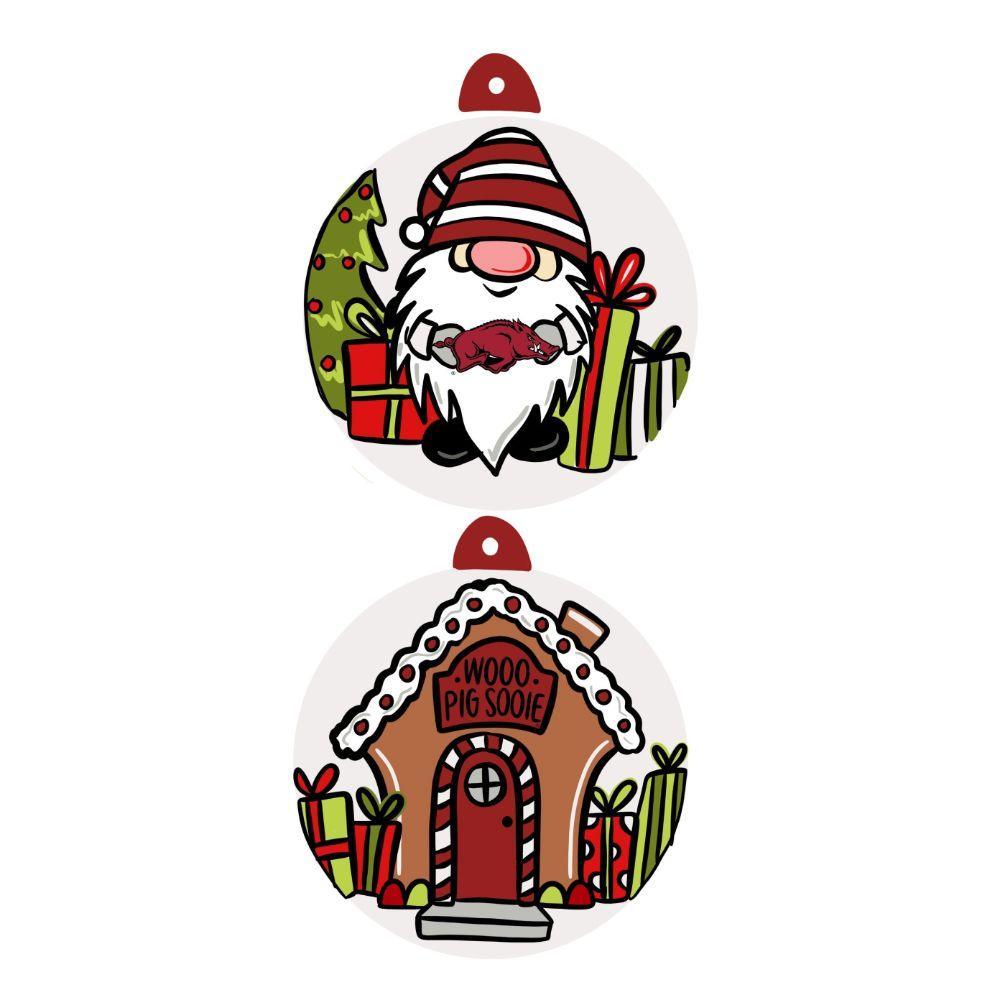 Arkansas Gnome Ornament