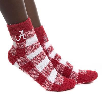 Alabama Zoozatz Fuzzy Buffalo Check Socks