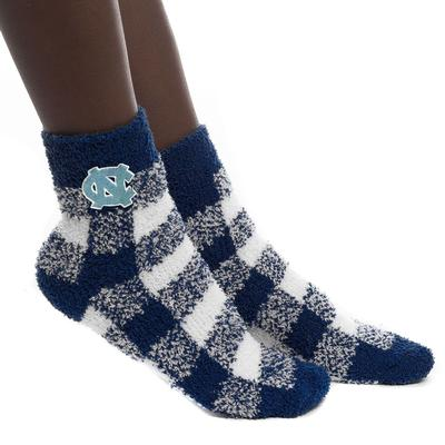 UNC Zoozatz Fuzzy Buffalo Check Socks