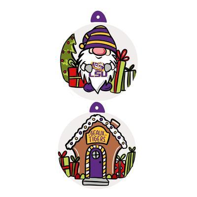 LSU Gnome Ornament