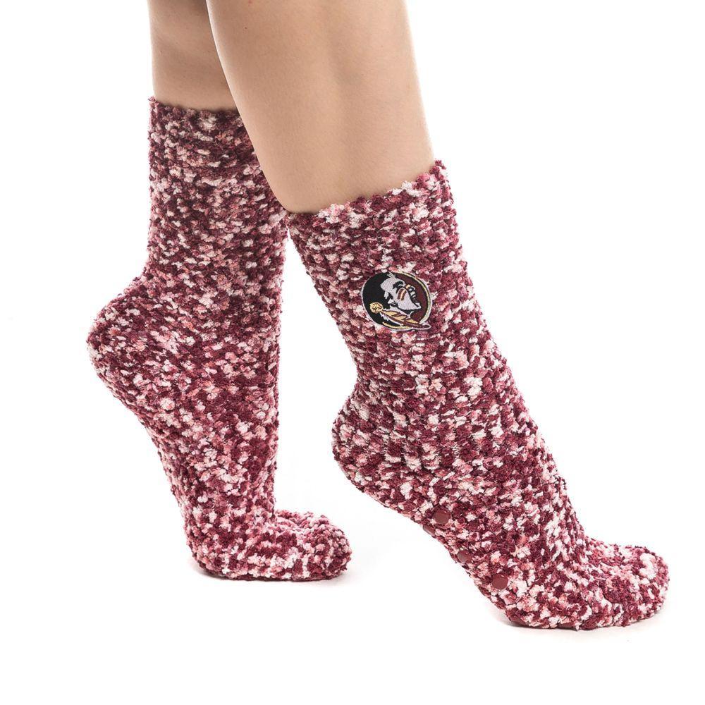 Florida State Zoozatz Marled Fuzzy Grip Socks