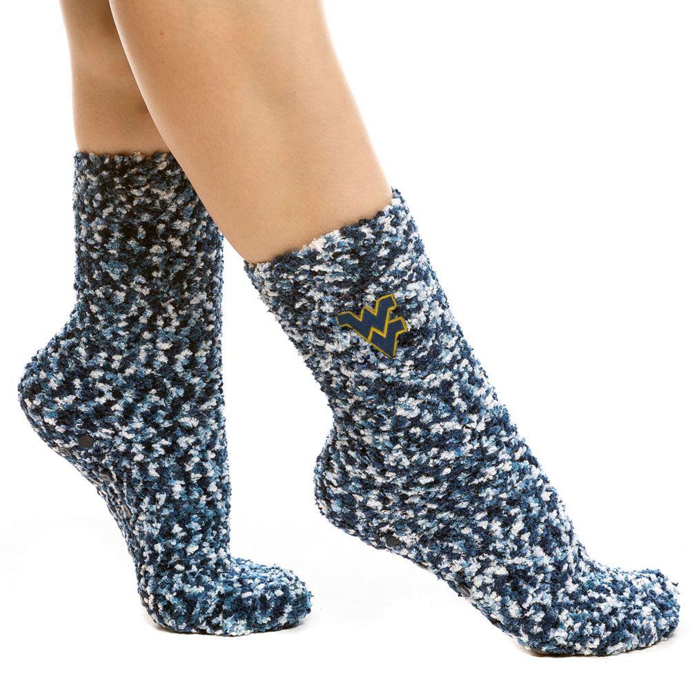 West Virginia Zoozatz Marled Fuzzy Grip Socks