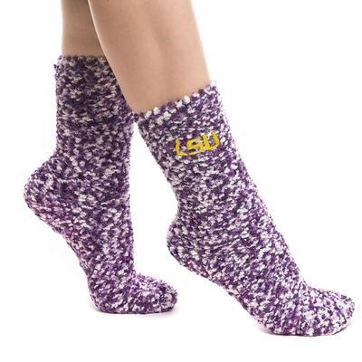 LSU Zoozatz Marled Fuzzy Grip Socks