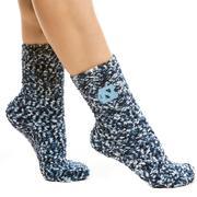 Unc Zoozatz Marled Fuzzy Grip Socks