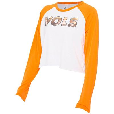 Tennessee Zoozatz Women's Gradient Long Sleeve Crop Tee