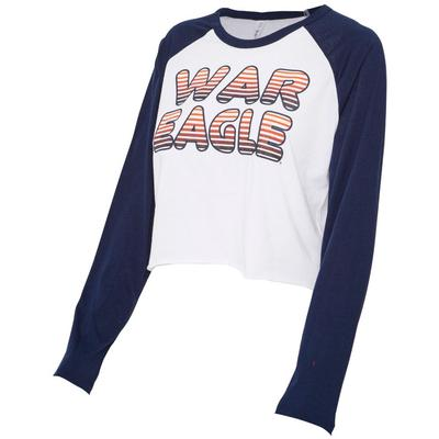 Auburn Zoozatz Women's Gradient Long Sleeve Crop Tee