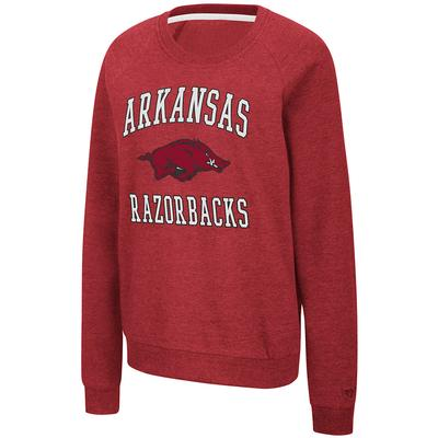 Arkansas Colosseum Women's Genius Fleece Crewneck