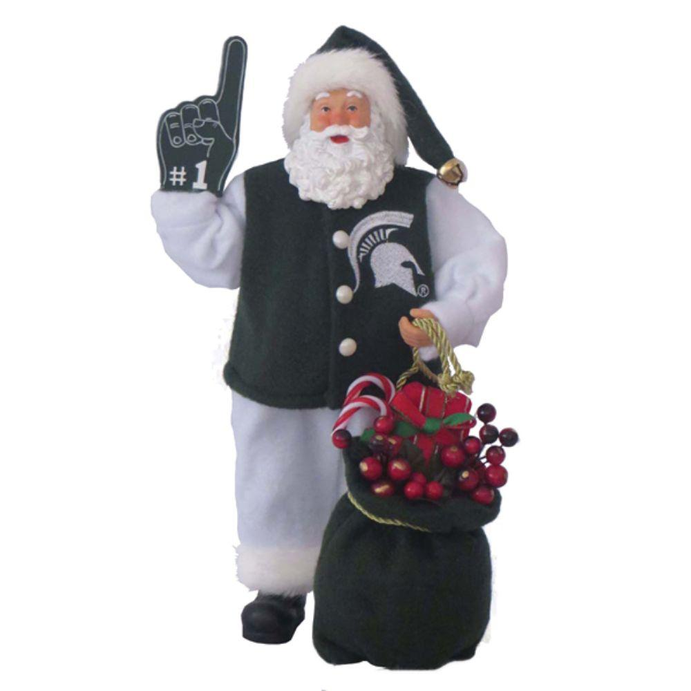 Michigan State Santa Statue