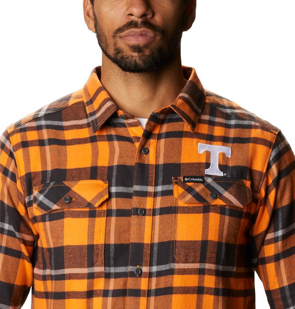 Tennessee Columbia Men's Flare Gun Flannel Plaid Long Sleeve Shirt
