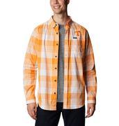 Tennessee Columbia Men's Rapid Rivers Plaid Long Sleeve Shirt