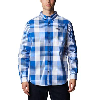 Kentucky Columbia Men's Rapid Rivers Plaid Long Sleeve Shirt