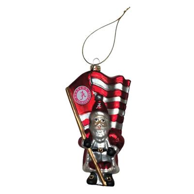 Alabama Glass Santa Ornament