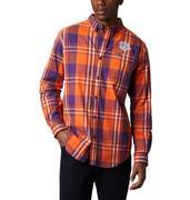 Clemson Columbia Men's Rapid Rivers Plaid Long Sleeve Shirt