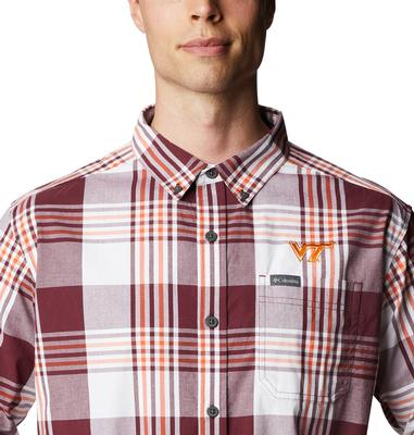 Virginia Tech Columbia Men's Rapid Rivers Plaid Long Sleeve Shirt