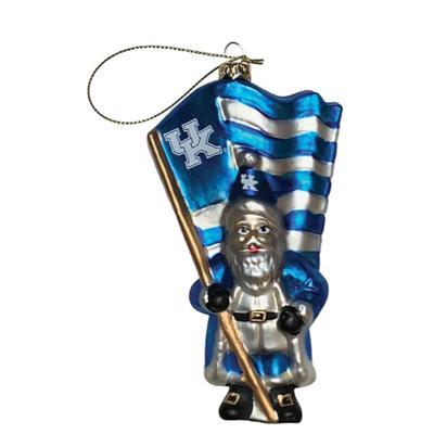 Kentucky Glass Santa Ornament