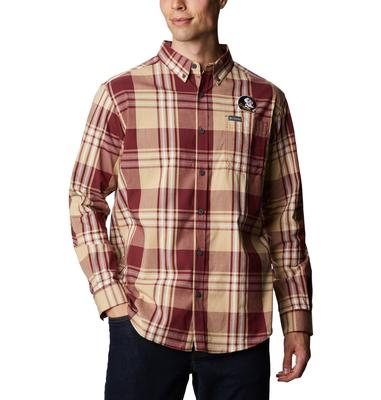Florida State Columbia Men's Rapid Rivers Plaid Long Sleeve Shirt