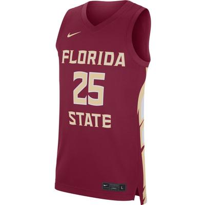 Florida State Nike Replica Road Basketball Jersey #25