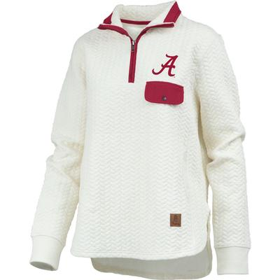 Alabama Women's Pressbox Caribou Quilted 1/4 Zip