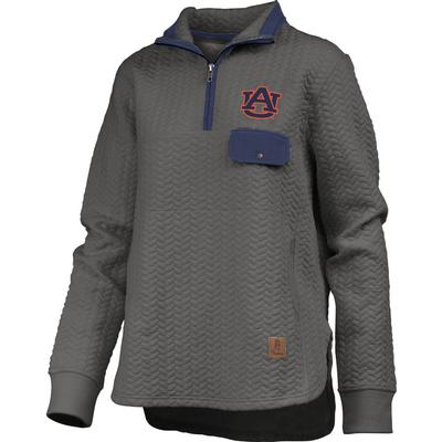 Auburn Women's Pressbox Caribou Quilted 1/4 Zip