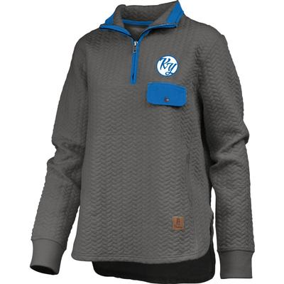 Kentucky Women's Pressbox Caribou Quilted 1/4 Zip