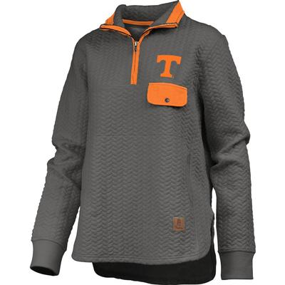 Tennessee Women's Pressbox Caribou Quilted 1/4 Zip